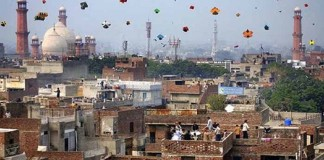 Catching kites with drone technology on Basant