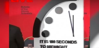 Doomsday is just 100 seconds away.
