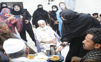 First Lady Bashari Bibi is once again active in social work