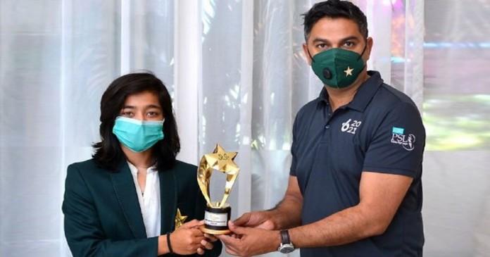 Fatima Sana wins 'Women Emerging Cricketer of the Year' award