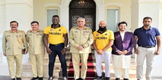 Zalmai's Javed Afridi, Darren Sammy and Hashim Amla called on the Army Chief