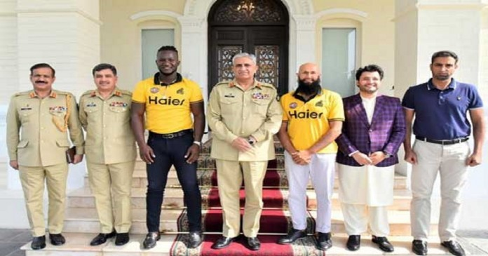 Zalmai's Javed Afridi, Darren Sammy and Hashim Amla called on the Army Chief