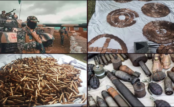 In Bajaur, the security forces' operation averted the catastrophe and recovered explosives and weapons