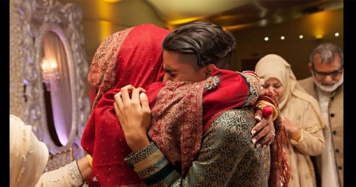 The bride died of excessive crying while on leave